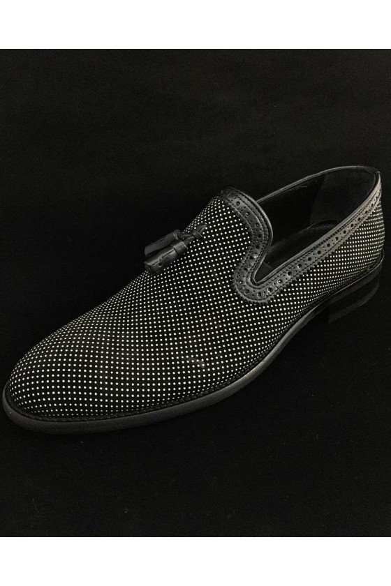 506 Men's shoes black leather