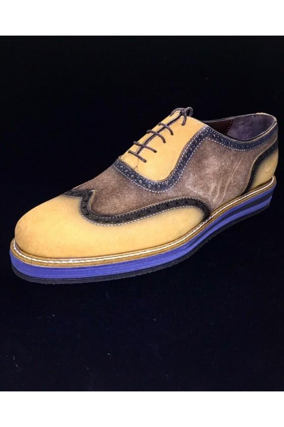 """600 Мъжки обувки """"Оксфорд"""" от естествен велур"""
