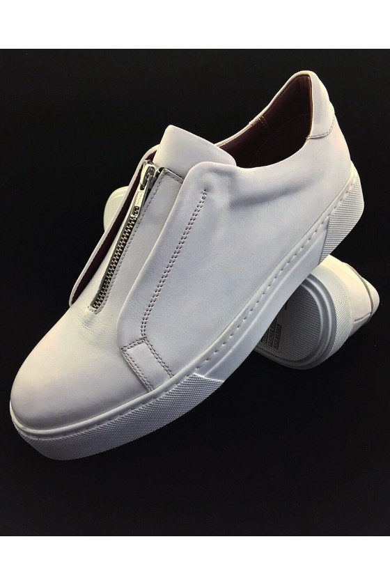 214 Men's sport shoes white leather