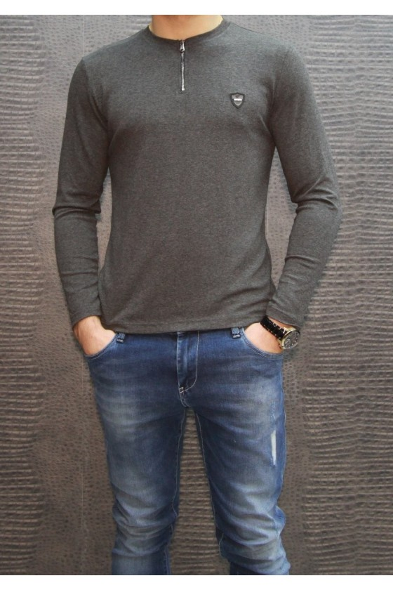 90170 08 GREY SHIRT WITH LONG SLEEVES