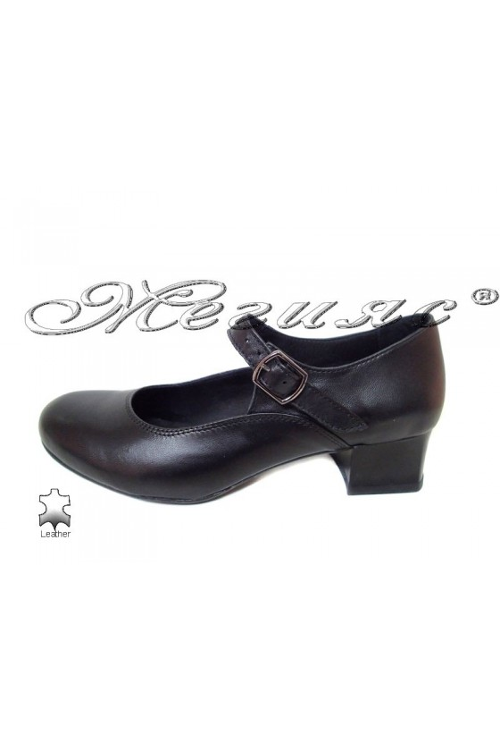Women middle heel shoes skarpini  51676-1 casual black all leather