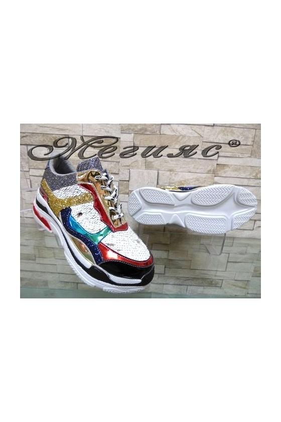 3312 Lady sport shoes white pu