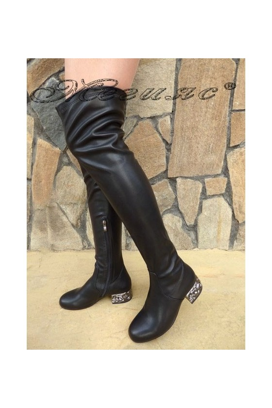 SONIA 19-1212 Women long boots black pu