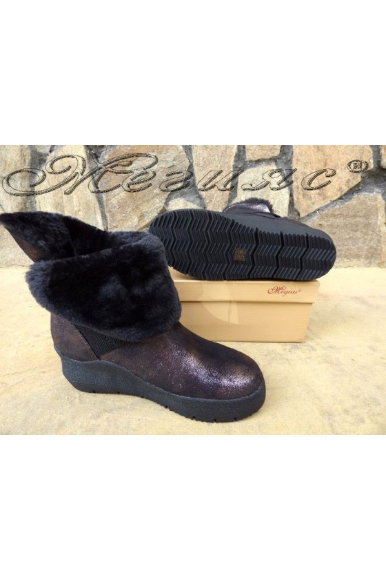 SONIA 19-1217 Lady boots brown pu