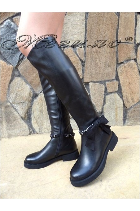 SONIA 19-1204 Lady boots black pu