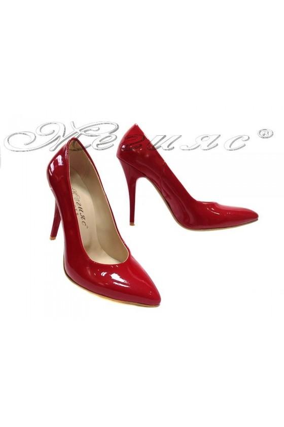 Дамски обувки 162 червен лак