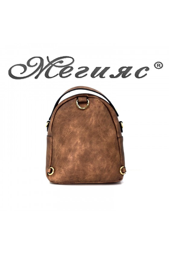 2006 Lady sport bag brown and blue pu