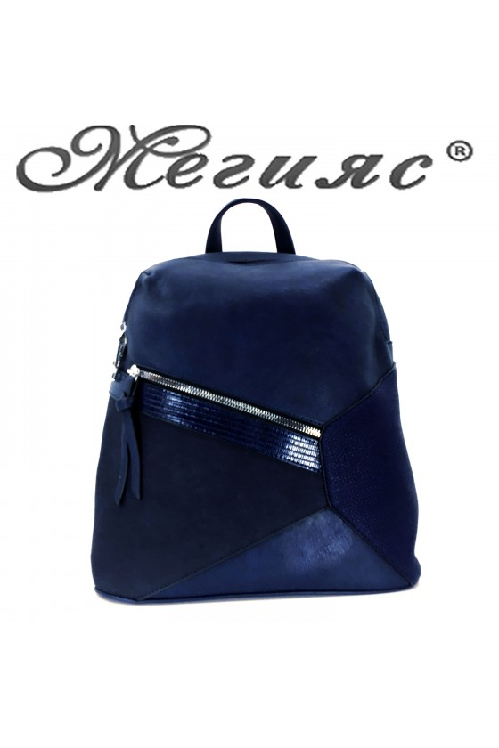 2278 Lady sport bag blue pu