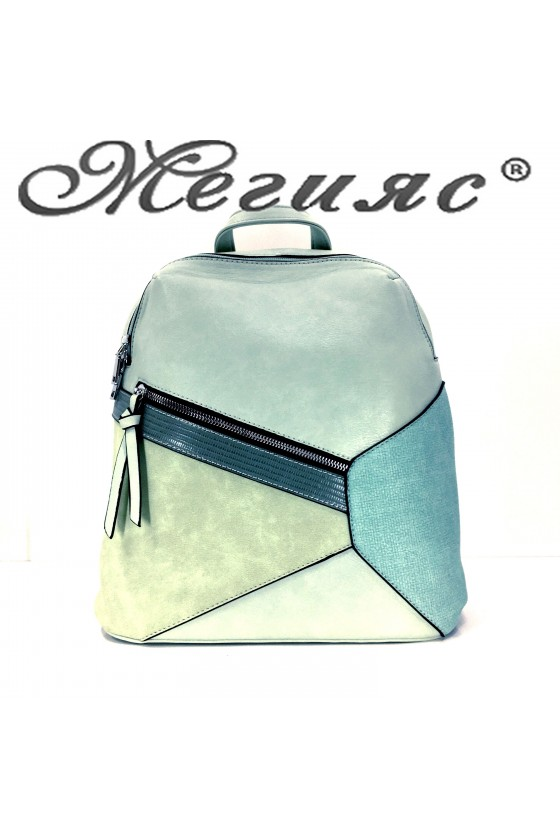 2278 Lady sport bag lt green pu