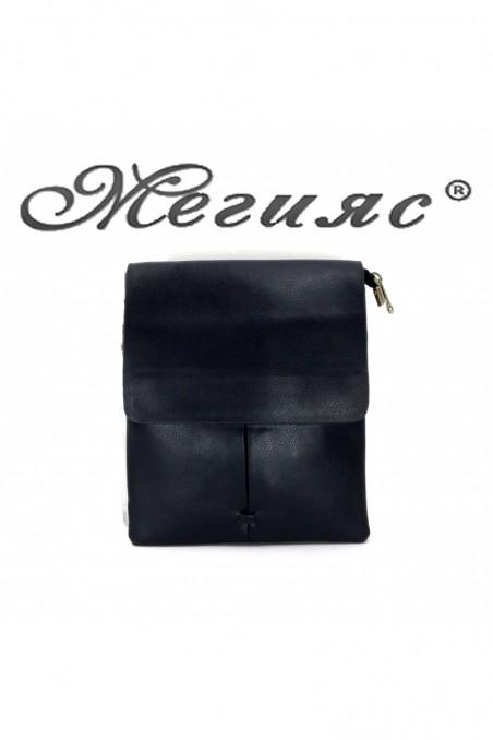888 Мъжка чанта черна еко кожа