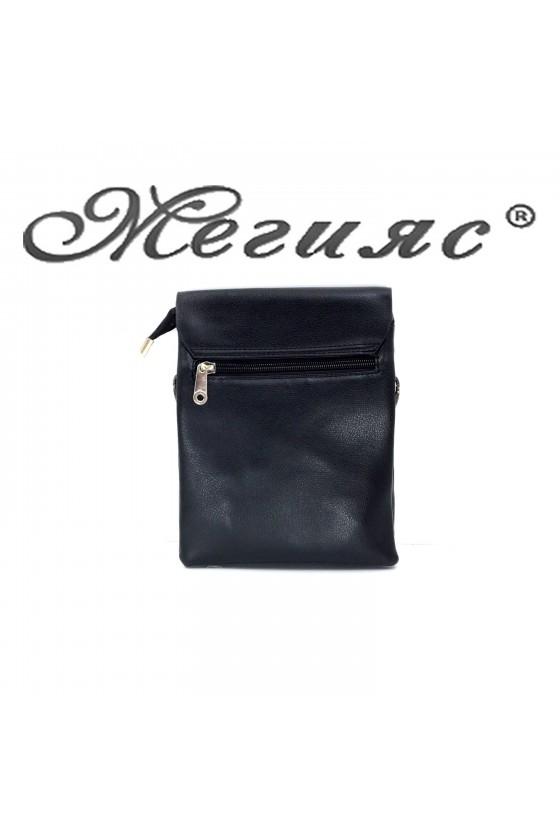 3012 Мъжка чанта черна еко кожа