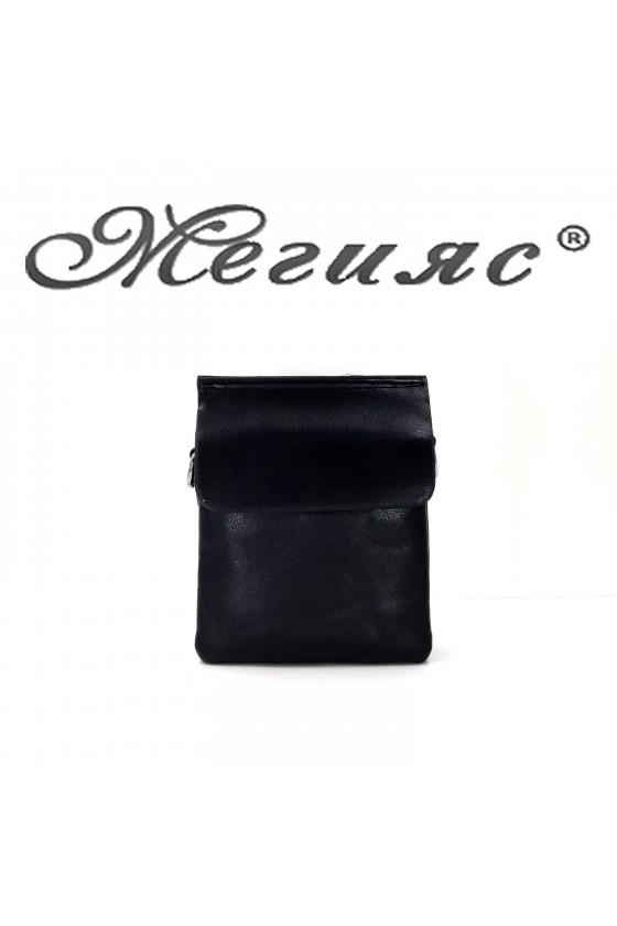 8829 Мъжка чанта черна еко кожа