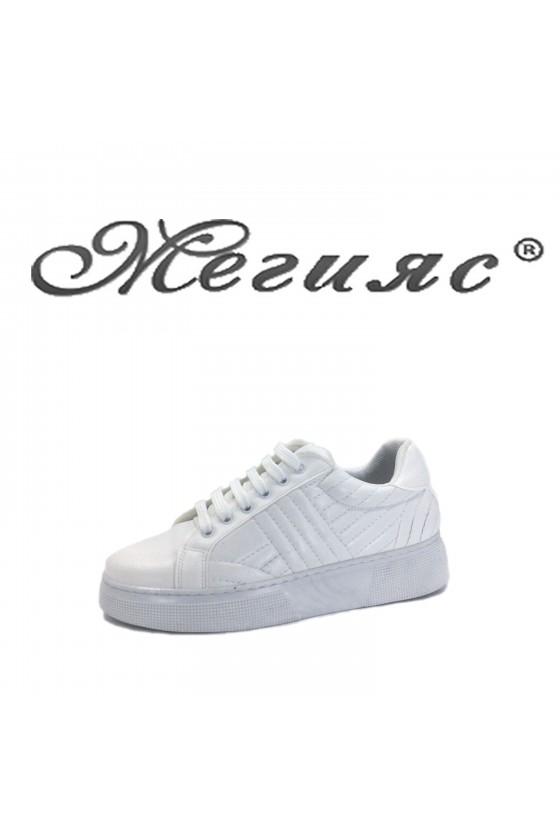 3137 Lady sports shoes white