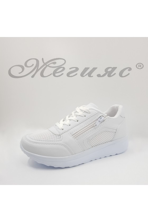 009-Z Lady sport shoes white pu