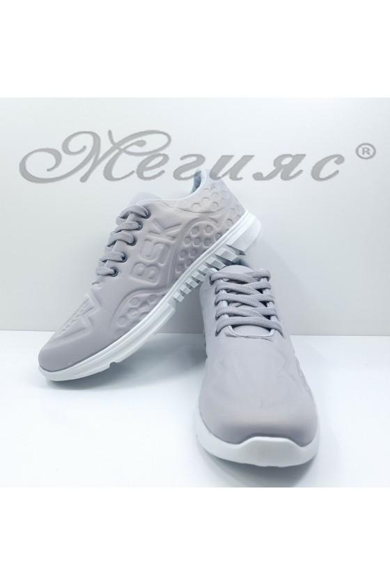 Дамски обувки  спортни сиви текстил 636