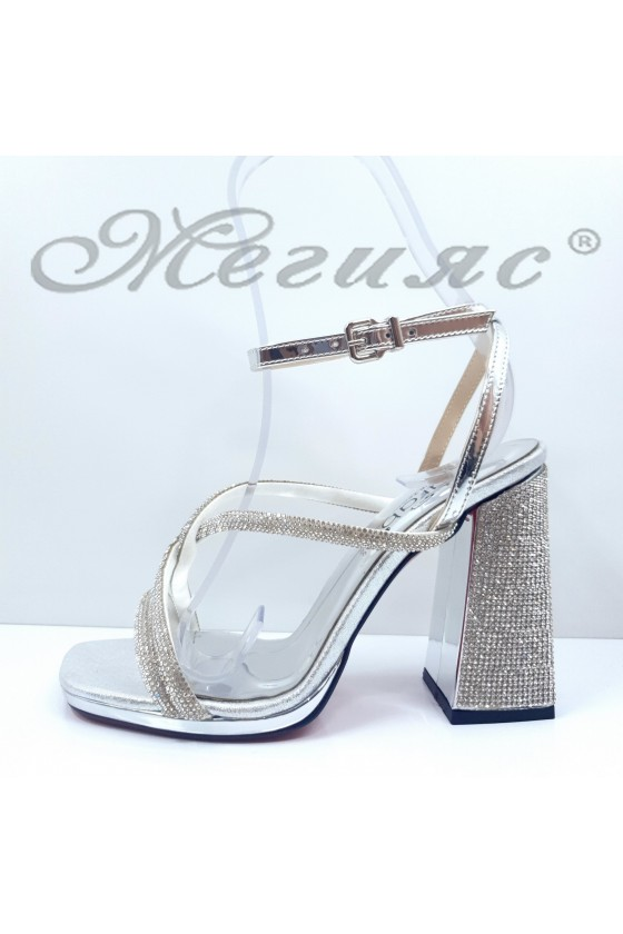 1794 Lady sandals silver high heels