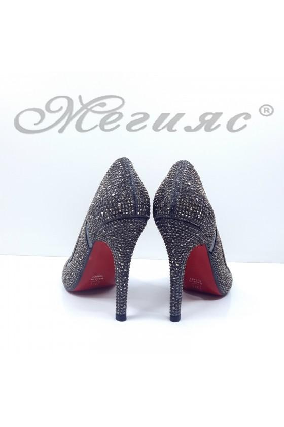 1655 Lady shoes dk grey high heels
