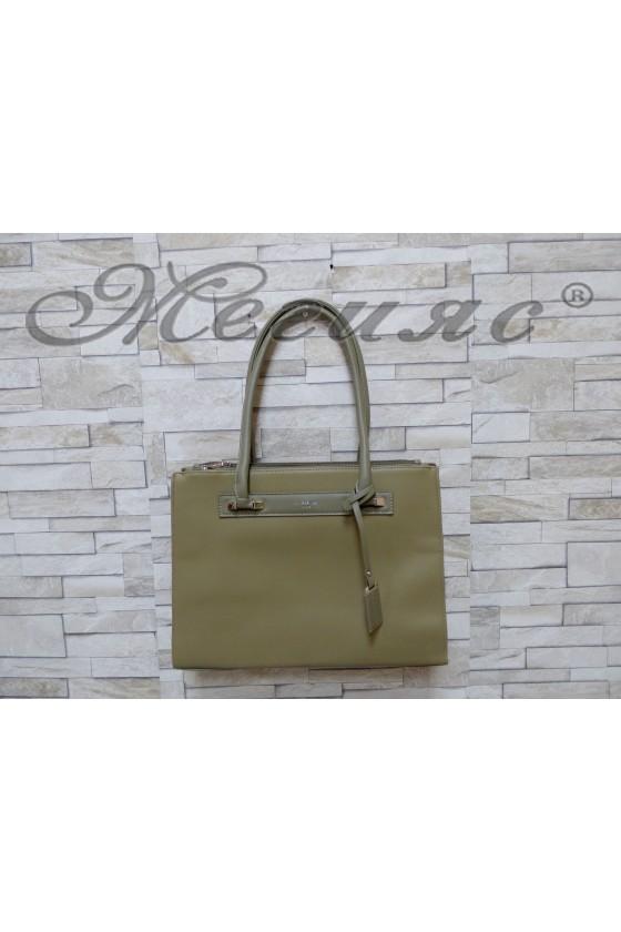 3503 Lady bag dk green pu