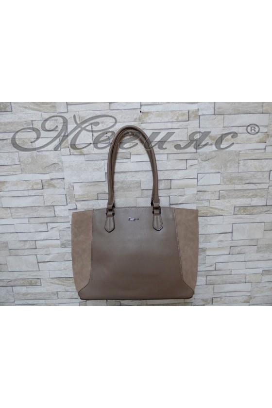 5391 Lady bag dk beige pu