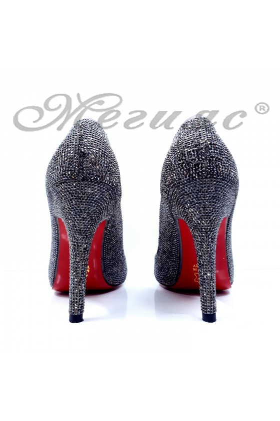 1294 Lady shoes grey high heel