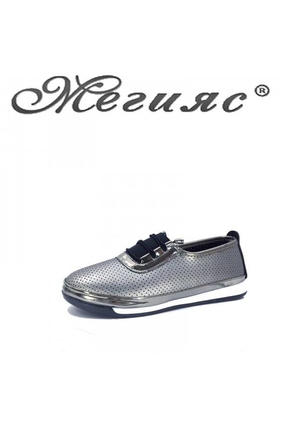 Дамски обувки ежедневни графит 339