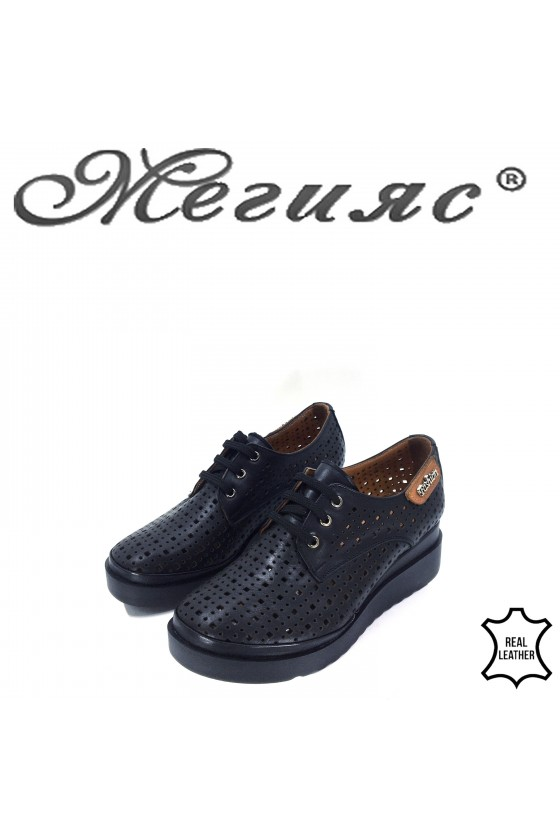 9263 Lady shoes black leather