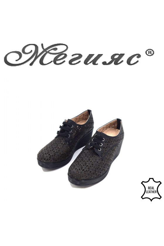 131  Lady sport shoes black leather