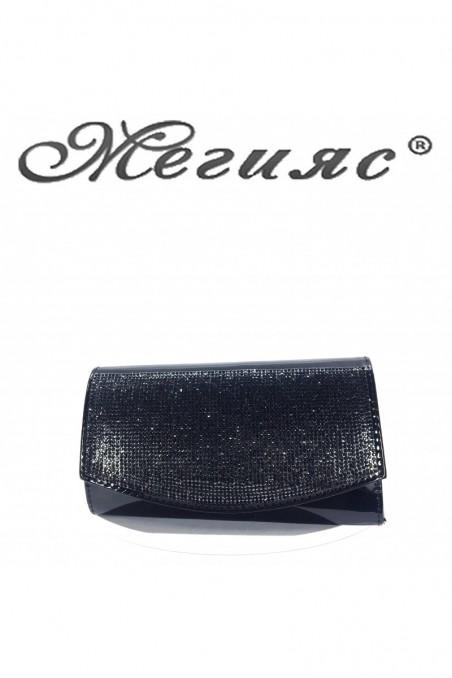 1519 Lady bag black shine