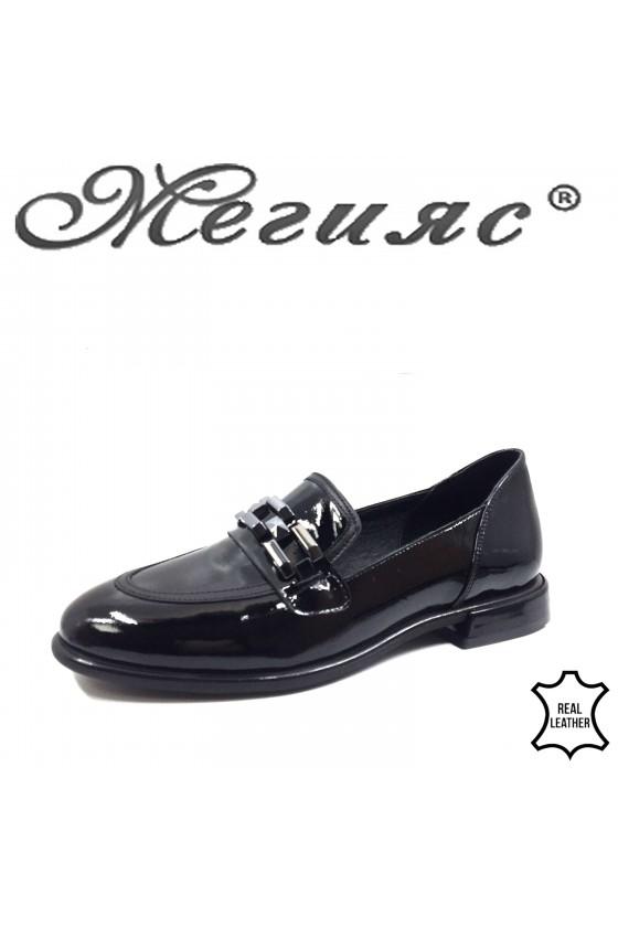 1932 Дамски обувки черни от естествена кожа