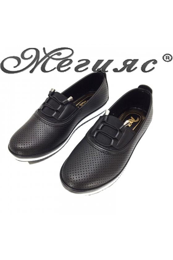 339 Lady shoes black pu