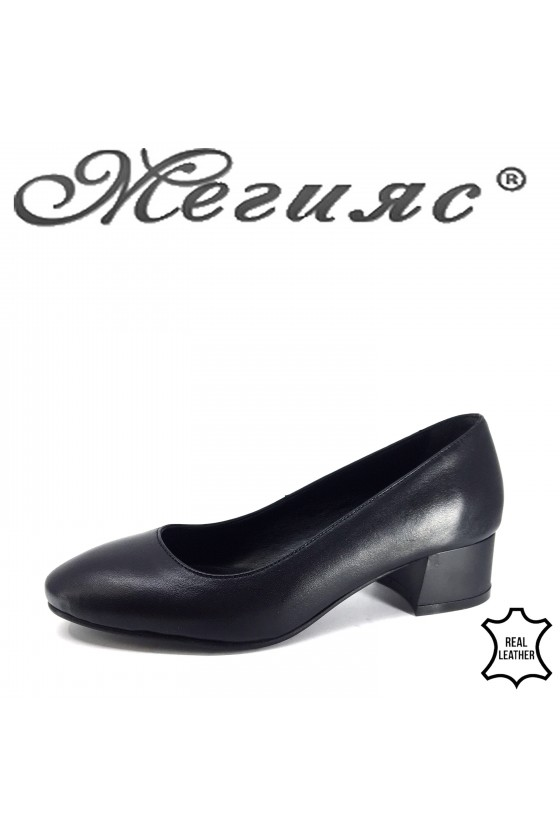 6009 Lady shoes black leather