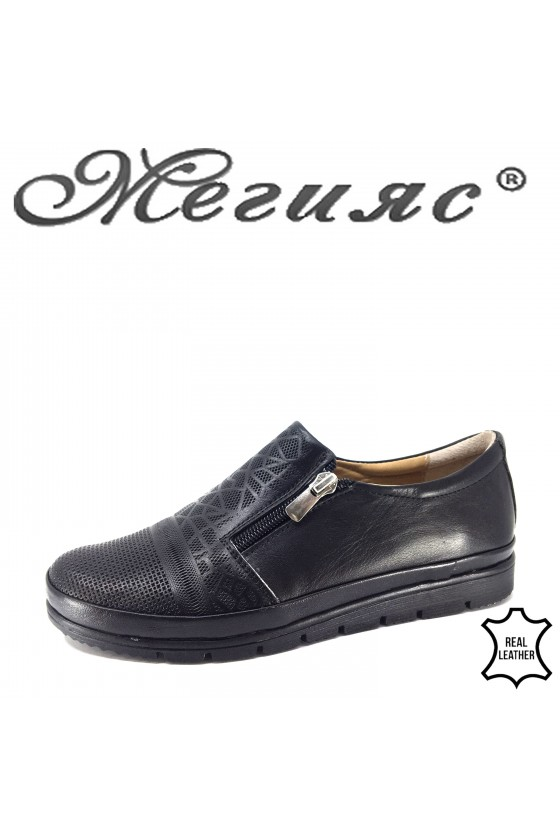 201 Lady sport shoes black leather