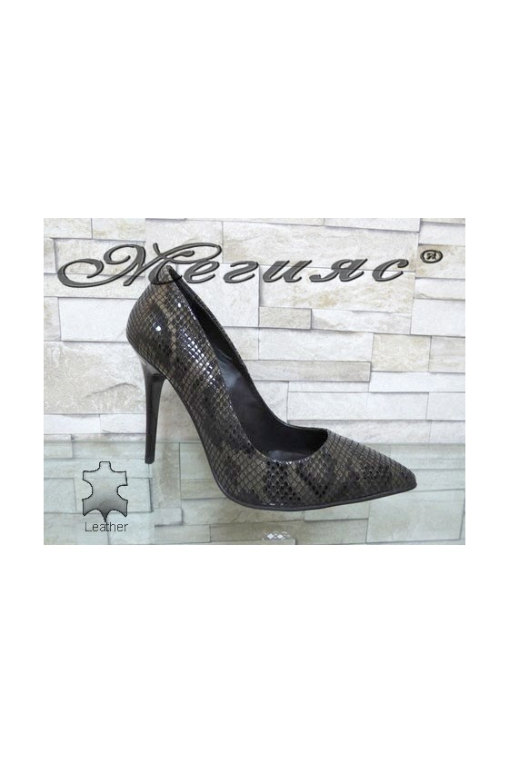178-48 Lady elegant shoes brown leather