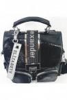 487-01 Дамска раница черна от еко кожа