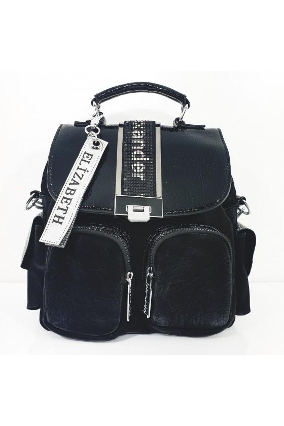487-01 Lady bag black pu