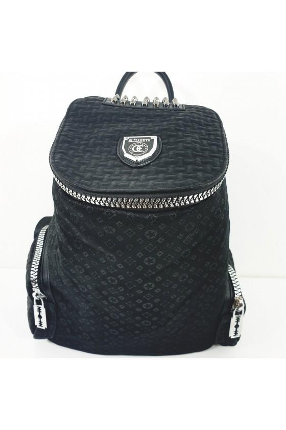 481-01 Lady bag black textile