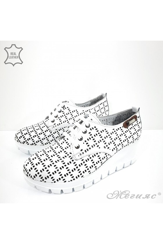 928 Lady shoes white leather
