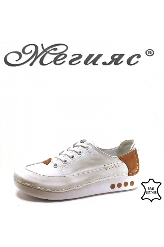 050 Lady shoes white leather