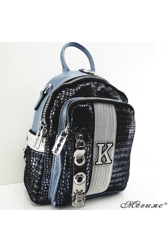 475-03 Lady bag lt blue pu