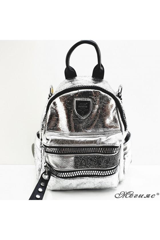 16348 Lady bag silver pu