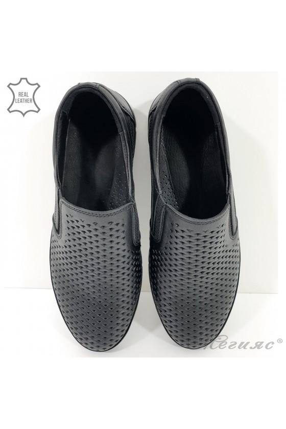 1901-1 Men's  shoes black leather