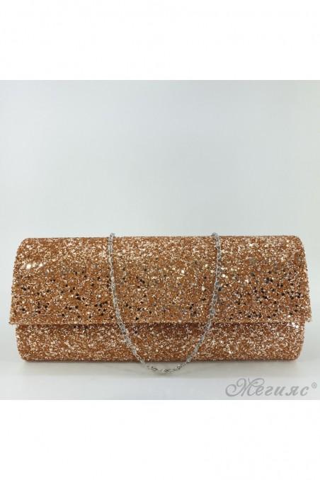 373 Дамска чанта бакър брокат