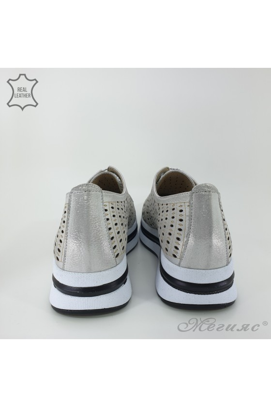105/71 Lady shoes silver leather