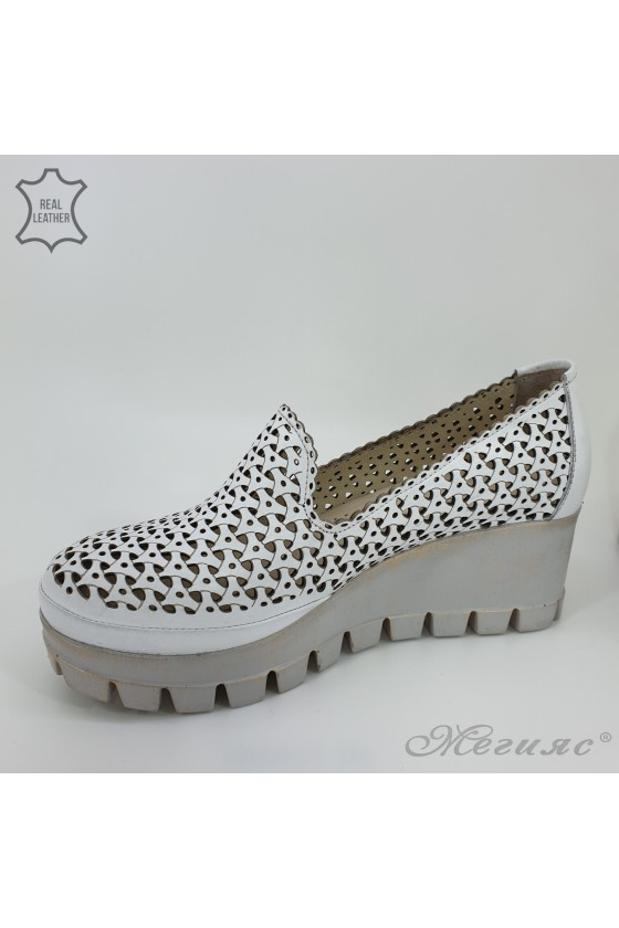 955/10 Lady shoes white leather
