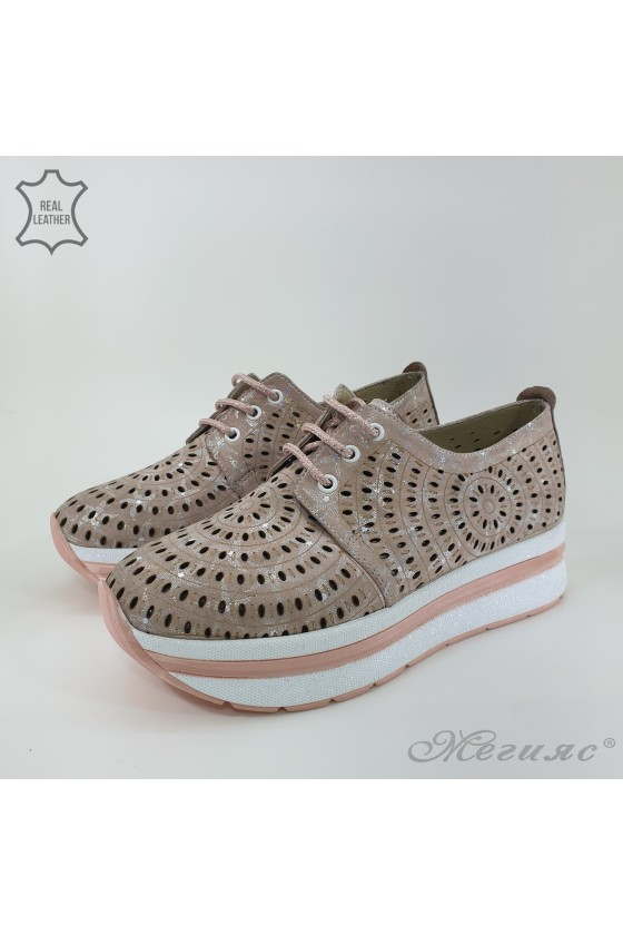 105/71 Lady shoes pudra leather