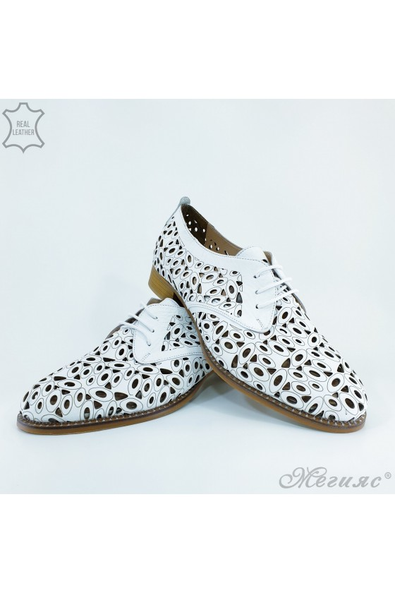 205/9 Lady shoes white leather