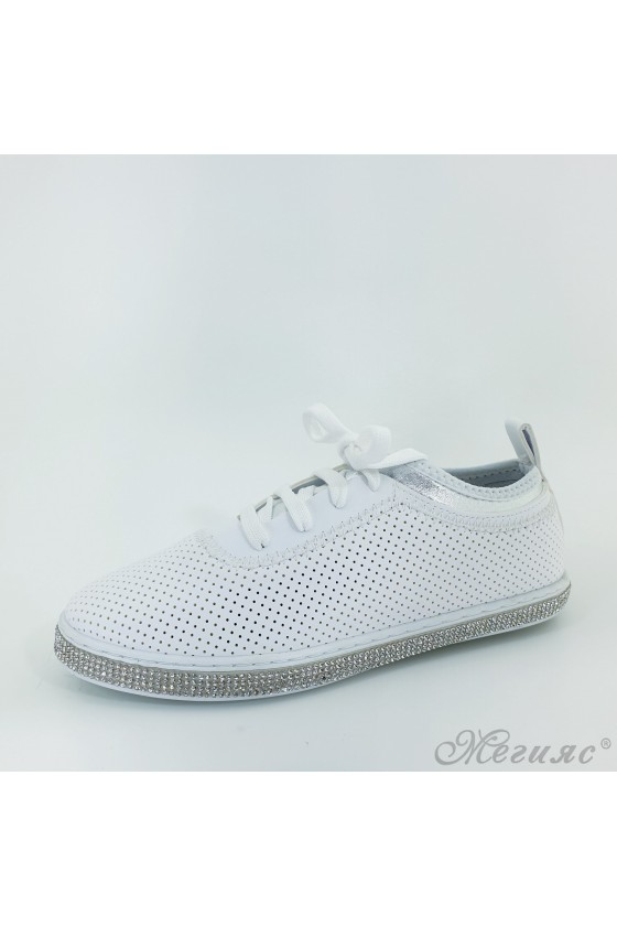 221 Lady shoes white pu