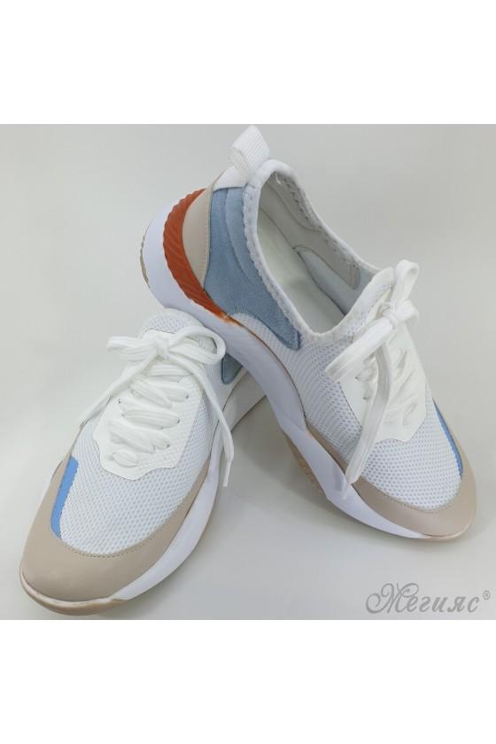 Дамски обувки спортни бели 1314