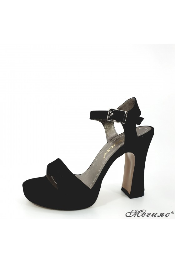 501 Lady sandals black suede high heels