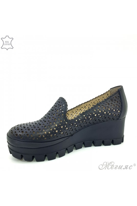 Дамски обувки черни естествена кожа 955/04